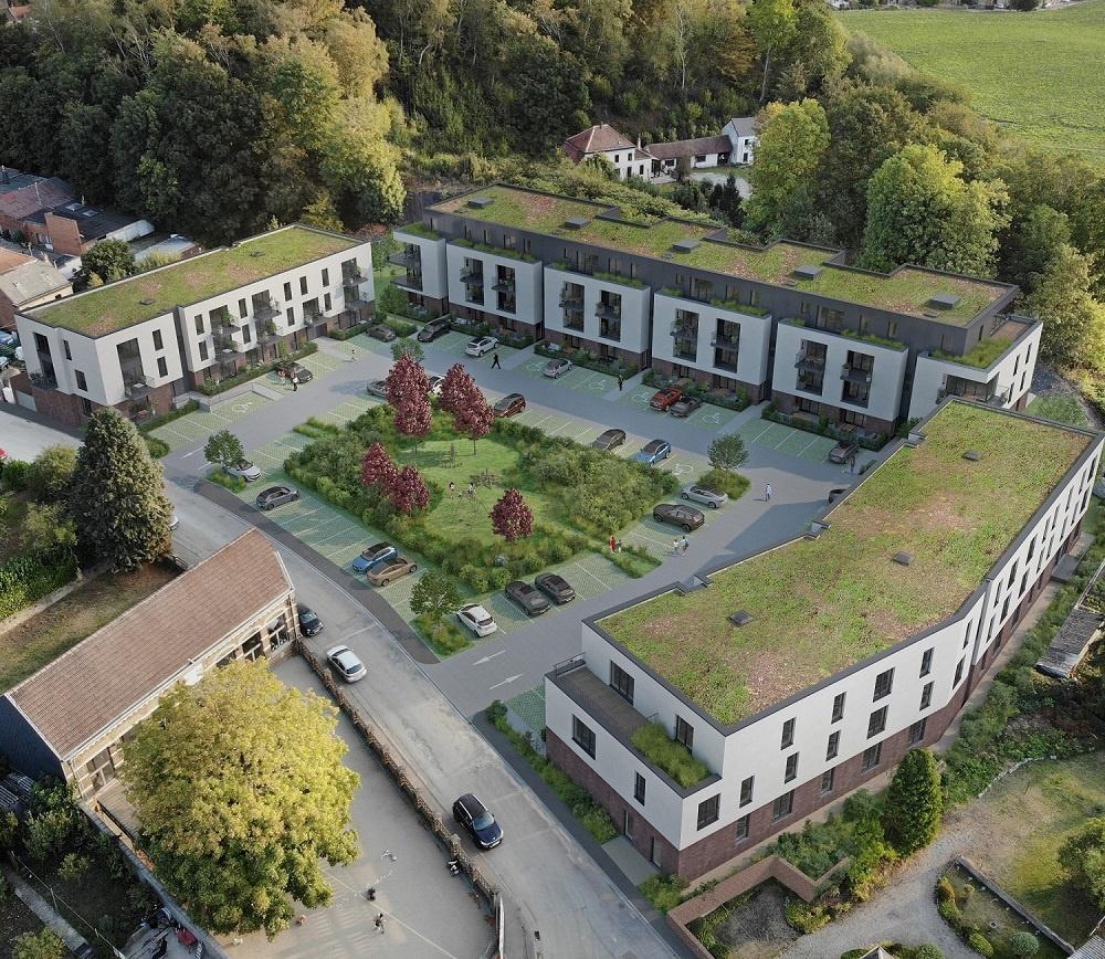 Un site minier devient une zone residentielle Chapelle-Lez-Herlaimont